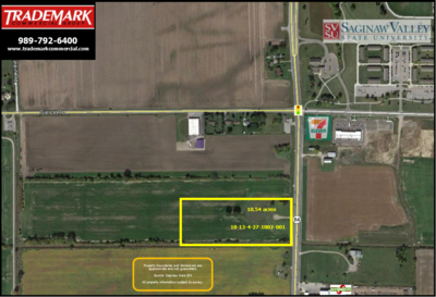 10.54 AC Bay Rd Near SVSU Call TRADEMARK 989-792-6400